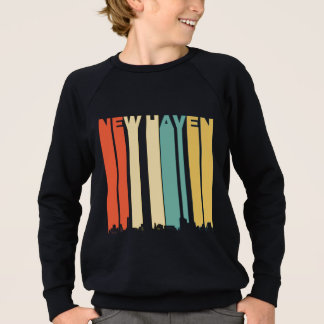 Retro New Haven Connecticut Skyline Sweatshirt