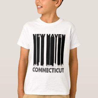 Retro New Haven Connecticut Skyline T-Shirt