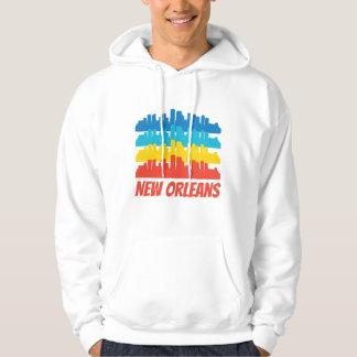Retro New Orleans LA Skyline Pop Art Hoodie