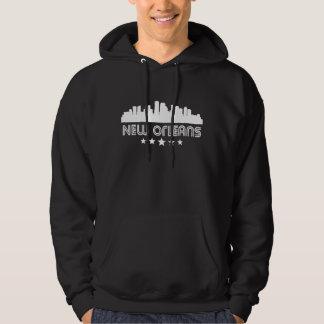 Retro New Orleans Skyline Hoodie