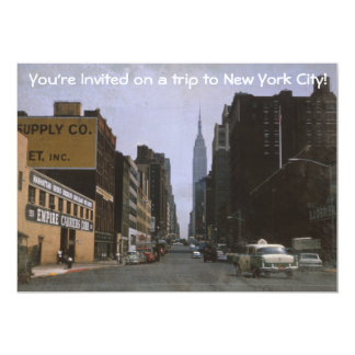 Retro New York City 1963 Invitation