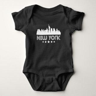 Retro New York City Skyline Baby Bodysuit