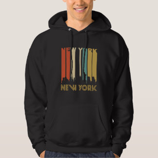 Retro New York Skyline Hoodie