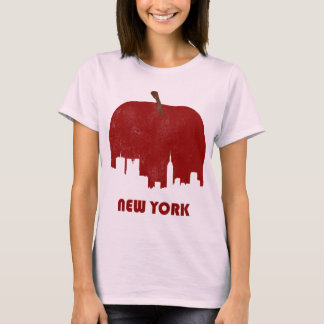 Retro New York Skyline-Women T-Shirt