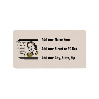 Retro Nonna Tshirts and Gifts Address Label