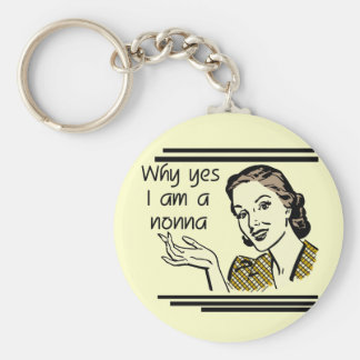 Retro Nonna Tshirts and Gifts Basic Round Button Key Ring