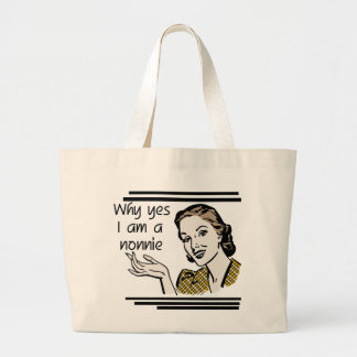Retro Nonnie T-shirts and GIfts Jumbo Tote Bag