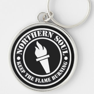 Retro Northern Soul style design Key Ring