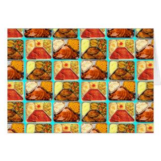 Retro Novelty TV Dinners Trays Greeting Card