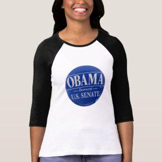Retro Obama for Senate Women s 3 4 Sleeve Raglan T Shirts