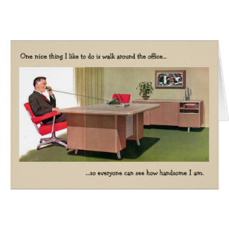 Retro Office - The Delusional Boss, Card