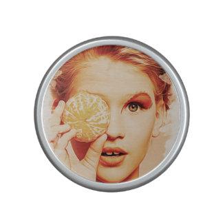 Retro Oil Painting Orange Beauty Girl Speaker