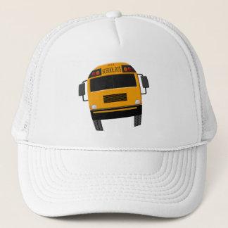 Retro Old School Bus Driver Cap Hat with Bus
