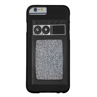 Retro Old TV with Static Screen Barely There iPhone 6 Case