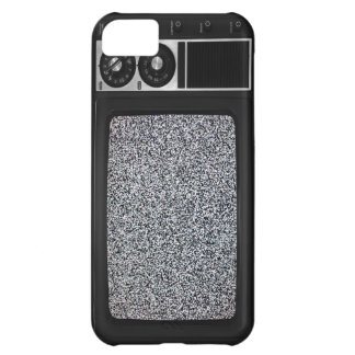 Retro Old TV with Static Screen iPhone 5C Cases