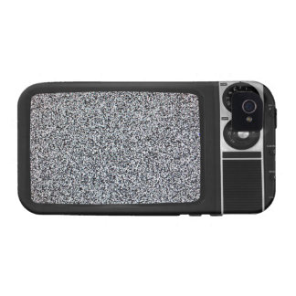 Retro Old TV with Static Screen iPhone 4/4S Cover