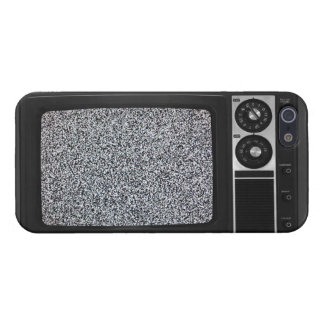 Retro Old TV with Static Screen Case Cover iPhone 5/5S Cover