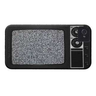 Retro Old TV with Static Screen iPhone 4 Case-Mate Cases