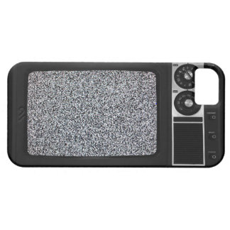Retro Old TV with Static Screen iPhone 5 Cases