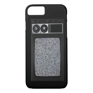 Retro Old TV with Static Screen iPhone 7 Case