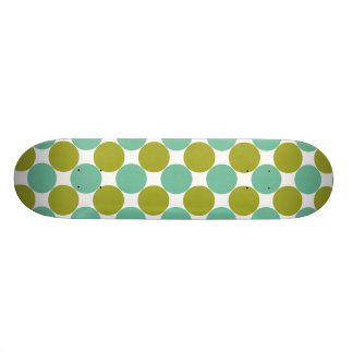 Retro Olive and Green Dots Skate Board Deck