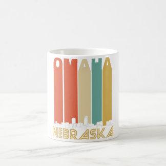Retro Omaha Nebraska Skyline Coffee Mug