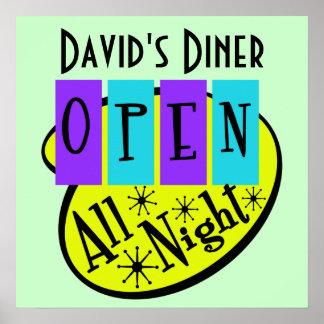 Retro OPEN ALL NIGHT Diner Sign