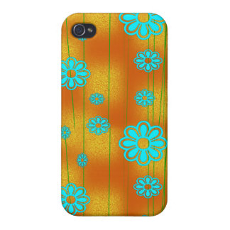 Retro Orange and Aqua Covers For iPhone 4