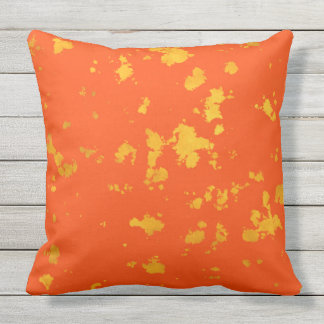 RETRO ORANGE AND YELLOW organics Throw Cushion