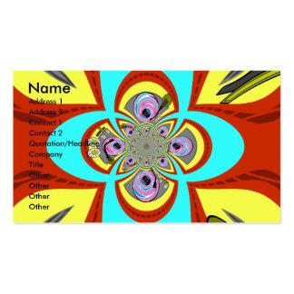 Retro orange blue turntable design pack of standard business cards