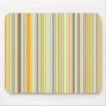 Retro Orange Brown Green Stripes Mousepad