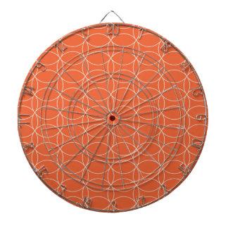 Retro Orange Circles Dart Board