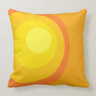 Retro Orange Circles Throw Pillow