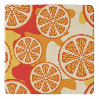 Retro Orange Citrus Pattern