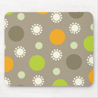 Retro Orange Green Dots Pattern Custom  Mousepad