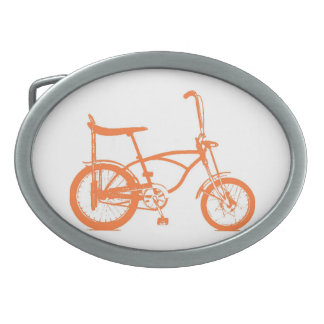 Retro Orange Krate Banana Seat Bike Belt Buckle