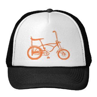 Retro Orange Krate Banana Seat Bike Cap