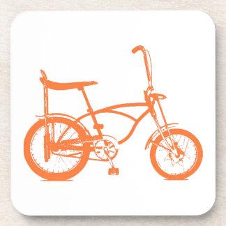 Retro Orange Krate Banana Seat Bike Drink Coasters