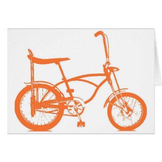Retro Orange Krate Banana Seat Bike Greeting Card