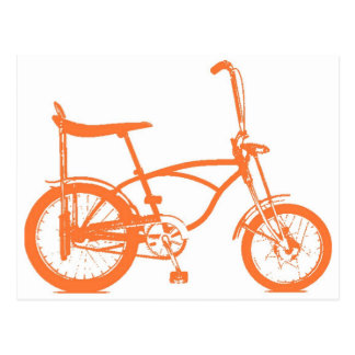Retro Orange Krate Banana Seat Bike Postcard