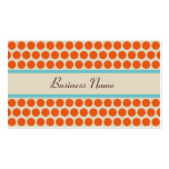 Retro Orange Polka Dots Business Cards