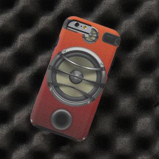 Retro Orange Speaker Look Tough iPhone 6 Case