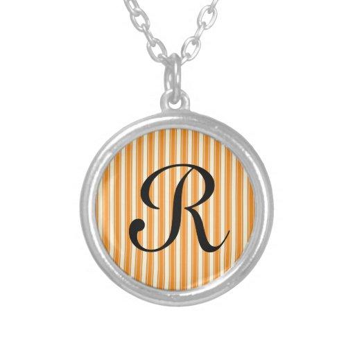 Retro Orange Striped Pendant