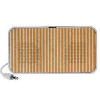Retro Orange Striped Mini Speaker