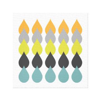 Retro Orange Yellow Blue Canvas Print
