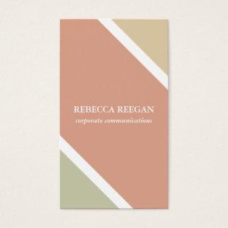 Retro Orange yellow stripes simple minimalist chic Business Card
