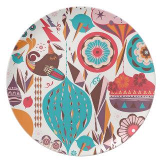 Retro Ornament Party Plate