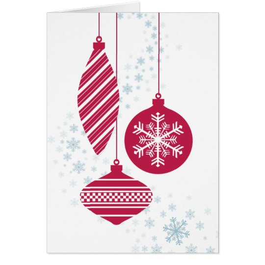 Retro Ornaments Christmas Card