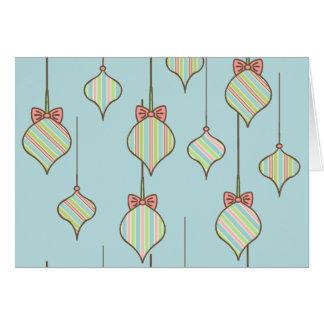 Retro Ornaments Christmas Card