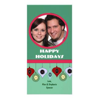 Retro Ornaments Holiday Photo Cards